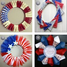 Four 4th Of July Wreaths