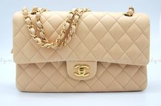 Medium Beige Chanel Classic Flap Bag