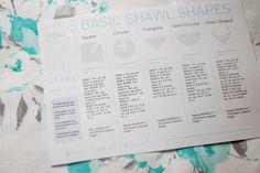 5 basic shawl shapes