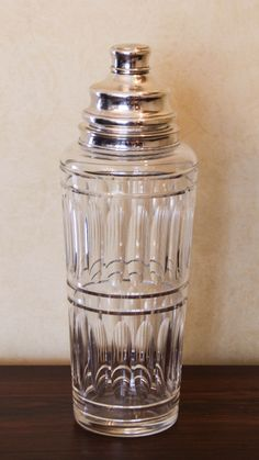 Hawkes Cut Crystal and Sterling Cocktail Shaker