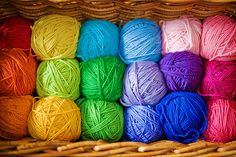 rainbow yarn....I want all these colors to make sweaters