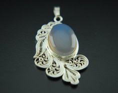 Handmade traditional Iranian filigree pendant. From Muscat Omen by pekima on Etsy.
