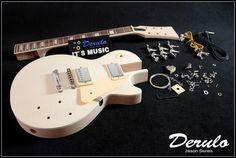 DIY Electric Guitar Kit  Set-In  Solid Mahogany Body Neck Flamed Maple Veneer #Affiliate