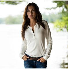 Women's Reliance Garments Thermal Henley | Guideboat Company