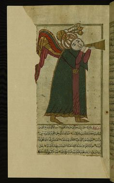 Turkish version of the Wonders of creation, The angel Isrāfīl , Walters Manuscript W.659, fol. 45a by Walters Art Museum Illuminated Manuscripts, via Flickr