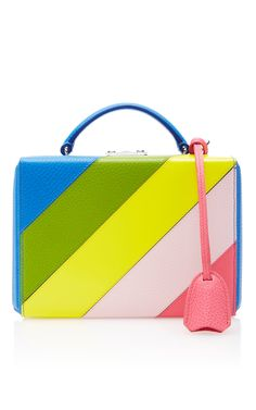 3991bc35abfe Rainbow Pebble Grain Grace Small Box Bag by MARK CROSS for Preorder on  Moda… Yellow