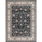 Kashan Mahal Green 7 ft. 10 in. x 9 ft. 10 in. Area Rug