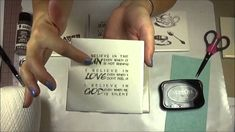 Stamping Ceramic Tile Coasters