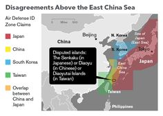 "#Map: Disputed islands in the 'East China Sea' | Karte der Territorialkonflikte im ""Ostchinesischen Meer"" 