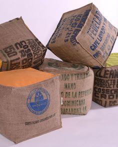 Maison&Objet 2014// Lilokawa, produits éco-conçus à partir des sacs de café en toile de jute.