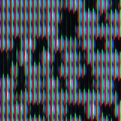 Detail close-up: Signal Loss.   While the image may appear to be black and white from a distance, just as static often does on a color television that has lost its signal, in reality the image is very colorful. The image and all associated products can be seen and purchased at:   http://society6.com/pixel404/Signal-Loss_Print