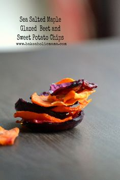 Sea Salted, Maple Glazed Beet and Sweet Potato  Chips