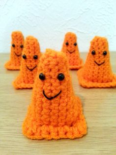 Construction Cones, Crochet Amigurumi Set of 5, Kids' Toy, Construction Party Favors, Boy Birthday Decorations, Made to Order by CuppaStitches on Etsy https://www.etsy.com/listing/207266465/construction-cones-crochet-amigurumi-set