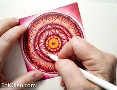 Eni Oken is an award winning artist with 30 years of experience, writing about Zentangle®, Shading, Fantasy design and Jewelry making. Ink Doodles, Online Art Classes, Spinner Toy, Doodle Coloring, Zen Art, Zen Doodle, Doodle Drawings, Art Background, Pebble Art