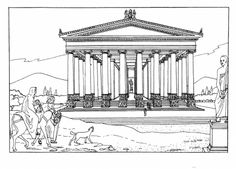 Temple of Artemis coloring page
