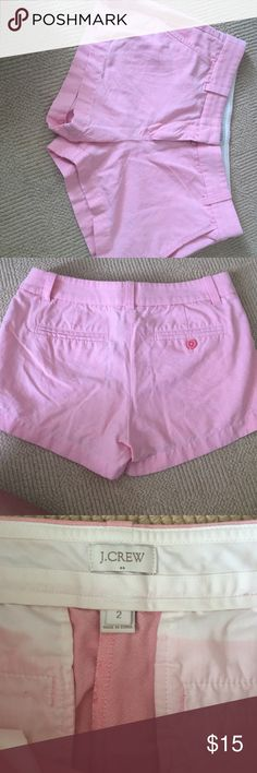 Light pink jcrew shorts Perfect condition jcrew light pink shorts. 3 inch seam J. Crew Shorts