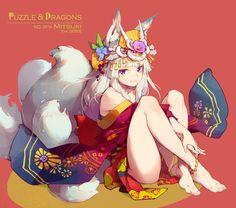 Puzzle n Dragons - Mitsuki by nnnnoooo007.deviantart.com on @DeviantArt
