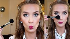 Easy contouring and highlighting tutorial using theBalm's Mary-Lou Manizer (champagne hued highlighter, shadow and shimmer). Easy Contouring, Contouring And Highlighting, Contouring Makeup, Contouring Tutorial, Beauty Make Up, Diy Beauty, Beauty Hacks, Urban Decay Makeup, Anti Aging