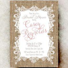Burlap Lace Bridal Shower Invitation - Coral bridal shower, country bridal shower invitation, printable bridal shower invitation