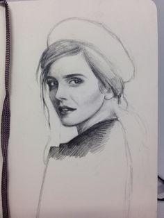 Emma Watson sketch by Mathilde Thorup