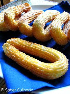Cómo hacer churros caseros con manga pastelera http://www.pinterest.com/jiselarecuero/recetas/