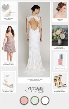 Vintage lace wedding ideas. ABSOLUTELY. Accept the bridesmaid dress would be long.