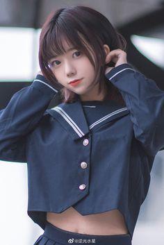 Japanese School Uniform Girl, School Girl Japan, School Girl Outfit, Japan Girl, Asian Cute, Cute Asian Girls, Cute Girls, Beautiful Japanese Girl, Beautiful Asian Girls