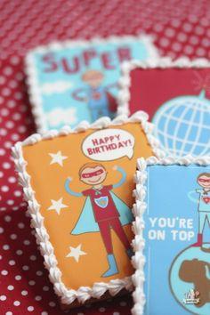Superhero Cookies ~ Template by @Amy Locurto {LivingLocurto.com}