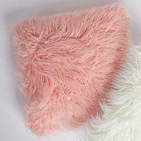 Pillow- Mongolian Fur Pale Pnk