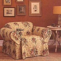 Waverly Chair Slipcover Harbor House Toile Floral Sure Fit