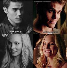 "Things I've changed so much in this show I am so glad they didn't went with the idea that Caroline was this slut and only cared about popularity also don't care what anyone says these two have the best TVD relationship is so sweet and nice ""We're in this together"" That's what relationships are about"