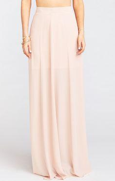 4aff57bcef Princess Ariel Ballgown Maxi Skirt ~ Dusty Blush Crisp