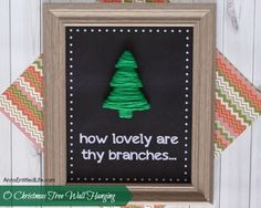 O Christmas Tree Wall Hanging