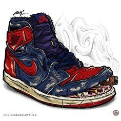 #sneakerart #artist  @bambambam.99
