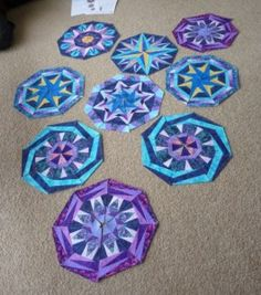 kaleidoscope quilt blocks - lovely!