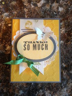 Cheerful Thank-Yous! Stampin' Up! By Maggie Goodfellow