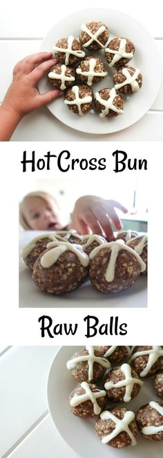 Gluten Free Raw Bliss Balls to try as a healthy alternative this Easter. #easter #healthy #rawballs #raw #hotcrossbuns