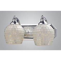 Shop Westmore Lighting 2-Light Polished Chrome Bathroom Vanity Light at Lowes.com