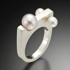 Artners Gallery - Pearls In Motion Ring, $355.00 (http://www.artnersgallery.com/pearls-in-motion-ring/)