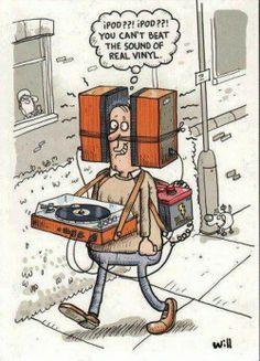 The earliest iPod.