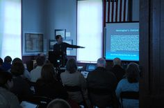 """Robert Myer presenting """"Becoming Lawrence County: the American transformation of the White River Country, 1804-1815"""" at the Jan. 15, 2015 NEARA symposium, """"Erasing Boundaries: Lawrence County at 200"""" in Powhatan."""