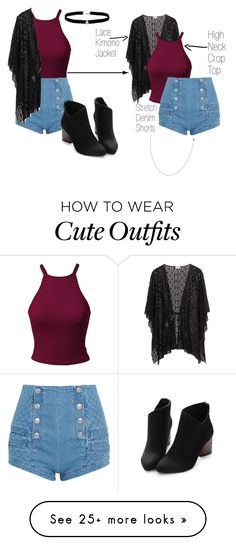 """Cute Outfit Red Tank"" by brikid on Polyvore featuring Pierre Balmain and Amanda Rose Collection"