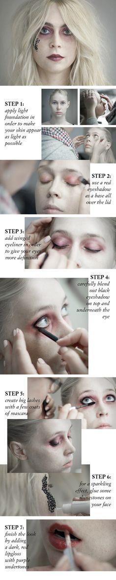 #halloween #makeup #tutorial #dead #bride #grunge #dark