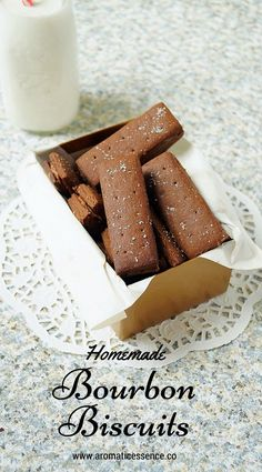 Step-by-step recipe with pictures to make Bourbon biscuits. Easy bourbon biscuit recipe with step-by-step pictures. How to make bourbon biscuits. Bourbon Biscuit Recipes, Bourbon Biscuits, Coffee Biscuits, Fruit Biscuits, Cookies Et Biscuits, Eggless Biscuits, Cream Biscuits, Tea Cakes, Food Cakes