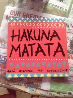 Hakuna Matata canvas art