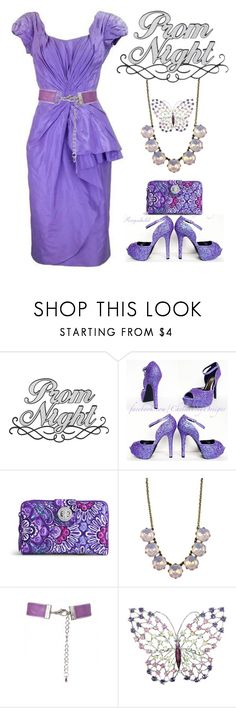 """Perfect Prom Night in Lilac Dress"" by ragnh-mjos ❤ liked on Polyvore featuring Ceil Chapman and Vera Bradley"