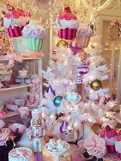 Goodwill Holiday Pink Christmas Visions of Sugarplums Candy Land Christmas, Pink Christmas Tree, Shabby Chic Christmas, Christmas Store, Merry Little Christmas, Beautiful Christmas, Christmas Holidays, Vintage Christmas, Christmas Ornaments