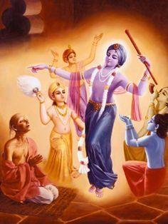 Krishna dasa Kaviraja, the author of Chaitanya Charitamrta, is ordered by Lord Nityananda in a dream to go to Vrndavana.
