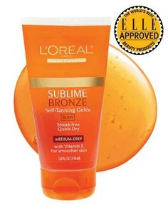 "golden girl- ""Never orange or streaky,"" L'Oréal Sublime Bronze Self-Tanning Gelée ""looks natural on fair skin."" Read more: Best Sunless Tanners Readers Pick the 5 Best Self Tanning Products   Follow us: @ElleMagazine on Twitter 