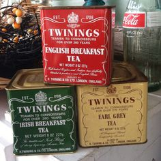 Twinings tea tins.  If it's good enough for the Queen....